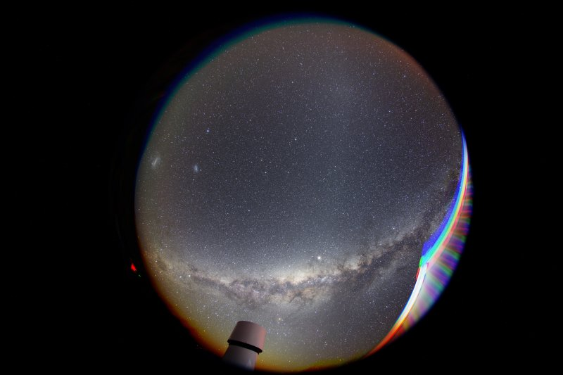 Fisheye view of the sky over Hakos/Namibia
