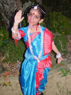 Uma the Odissi danceuse strikes a pose...