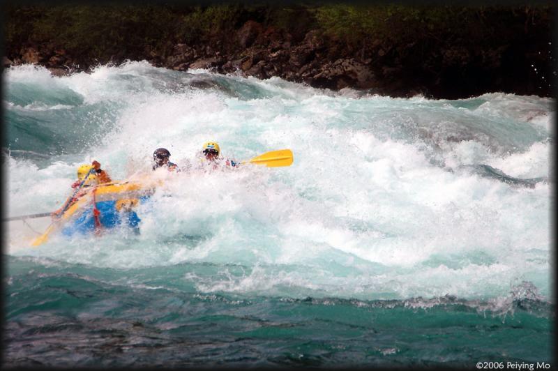 Here comes Phils raft submerging in Mundacas waves
