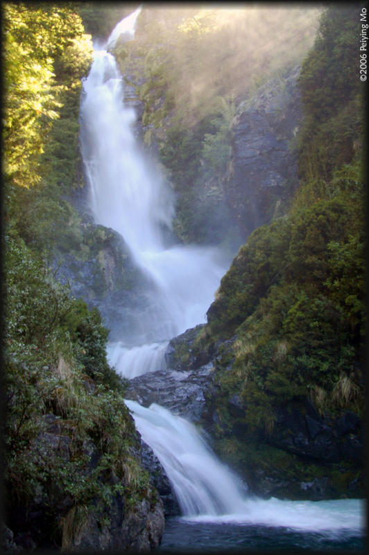 La Cascada (The Waterfall) - 50m high - that the camp is named after