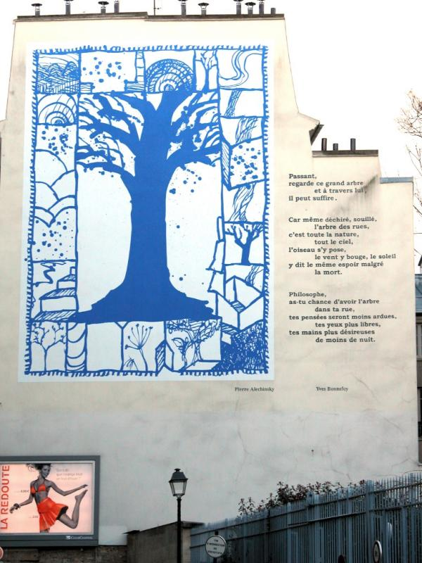 Mural and poem (Alechinsky and Bonnefoy)