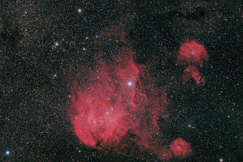 Running Chicken Nebula ( IC 2944, IC 2948) in Centaurus