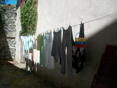 Clothesline in Salers 2005