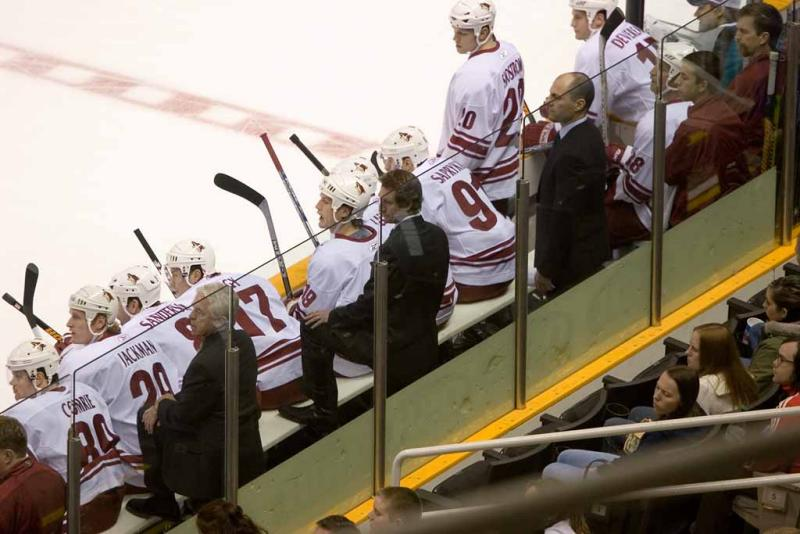 Wayne Gretzky and the Coyotes bench