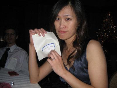shes so sad because she won a 2 dollar macys gift card