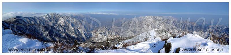 Soraksan National Park view from Sochongbong Peak