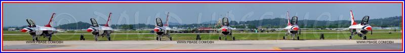 U.S. Air Force Thunderbirds at Osan AB during Air Power Day 2004