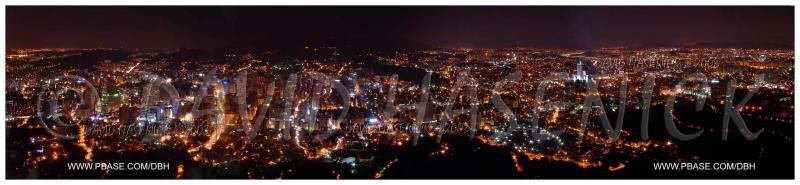 Seoul Night Lights view from Mt. Namsan