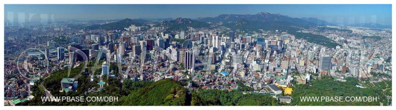 Downtown Seoul viewed from Seoul Tower