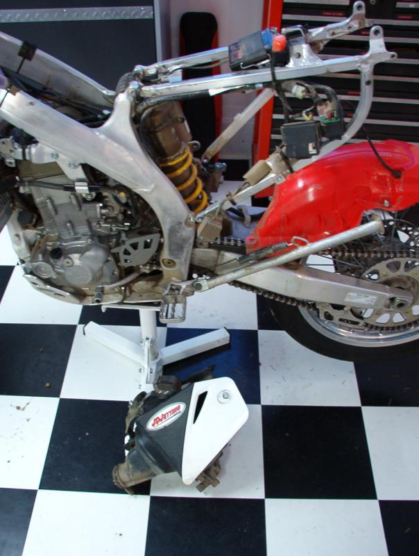 Fender Unbolted, Rectifier Dismounted from Airbox,  Wires Left Connected