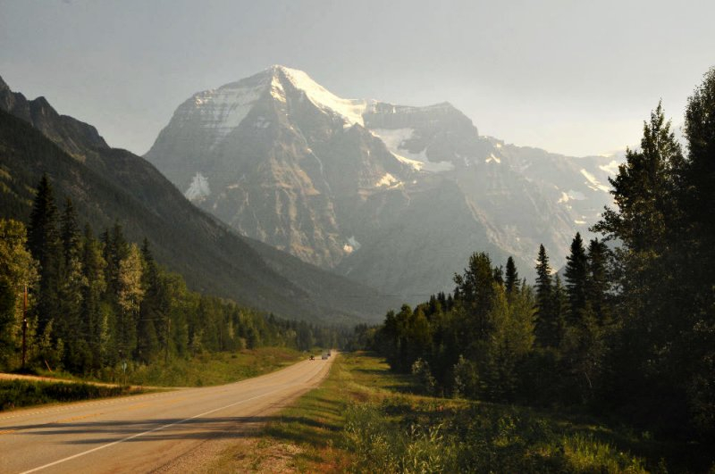 View of Mt. Robson from the West (Yellowhead Highway, Rt 16)