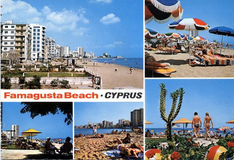 Famagusta beach - multi-card