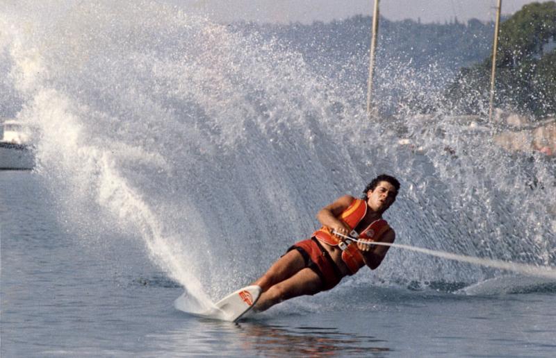 Waterskiing in Corfu - 1982 (23)