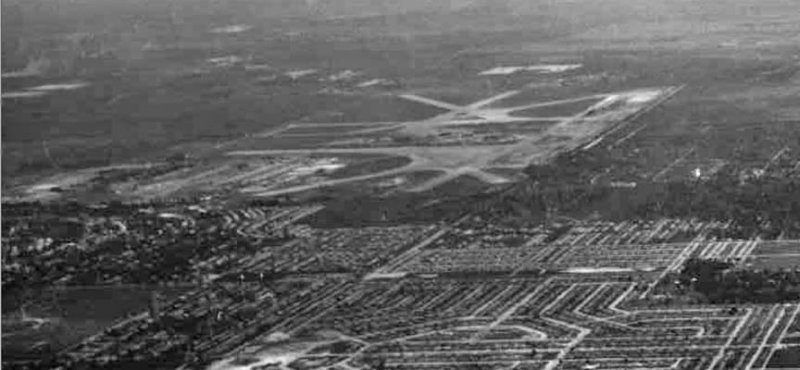 1954 - Marine Corps Air Station Miami at what is now Opa-locka Executive Airport and viewed from over the Cloverleaf