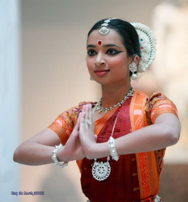 Odissi dance usually depicts the Indian god, Krishna