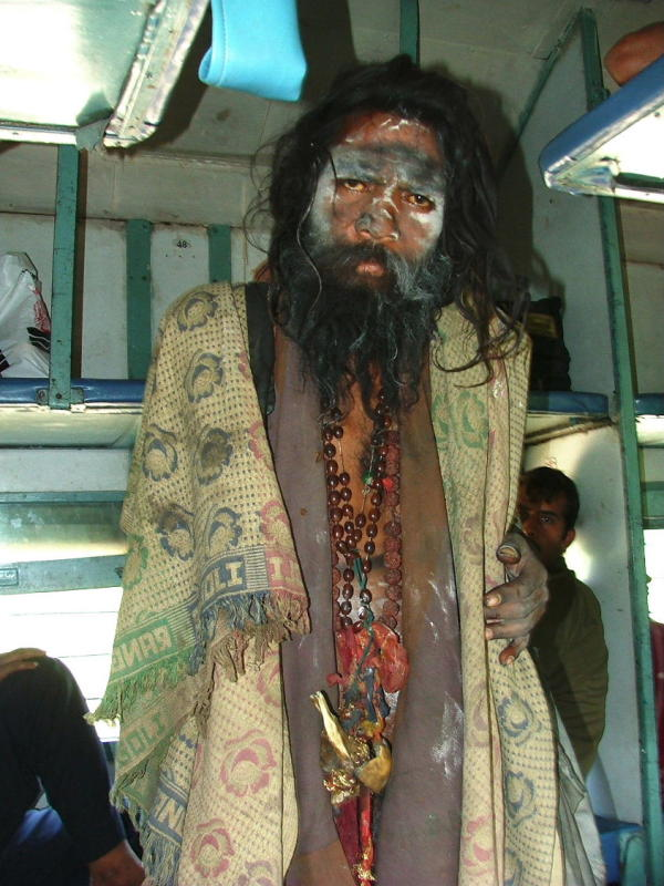 Saddhu on the Train