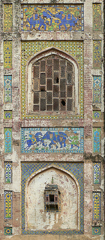 Lahore Fort - Pictured Wall - P1290828.JPG