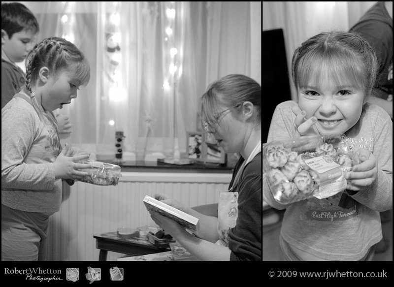 Kids preparing Santa's snack. Photography by Robert Whetton, Dorset Photographer