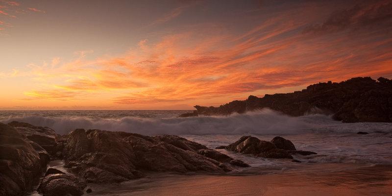 Wyadup Rocks waves at sunset
