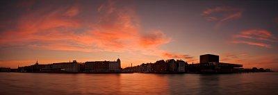Copenhagen Harbour Summer Panorama