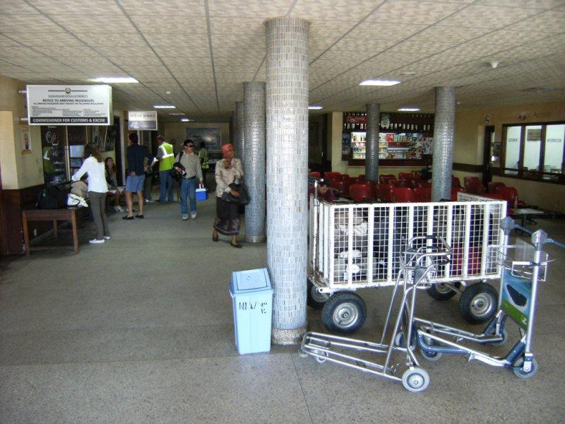 Departures at Dar Es Salam domestic terminal