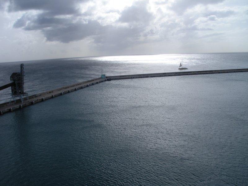 Sun peeking through the clouds on Barbados