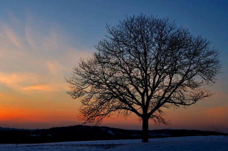 Winter Sunset Haverhill, Massachusetts