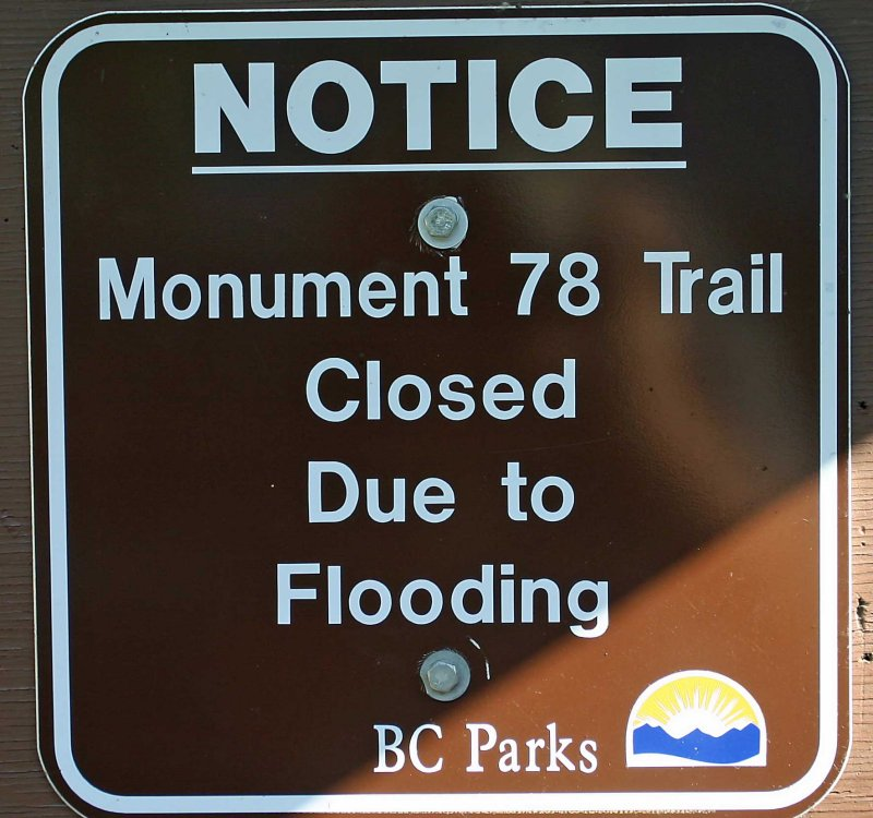 Sign At Manning Park Trail Head