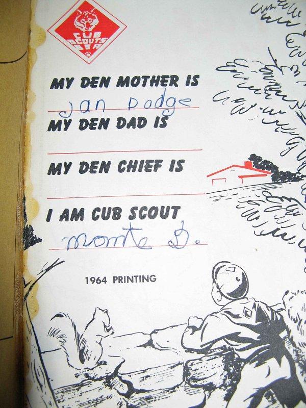 My 1964  Cub Scout  Wolf Book