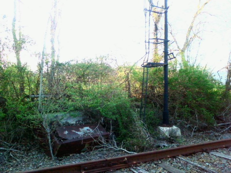 old signal tower and controller