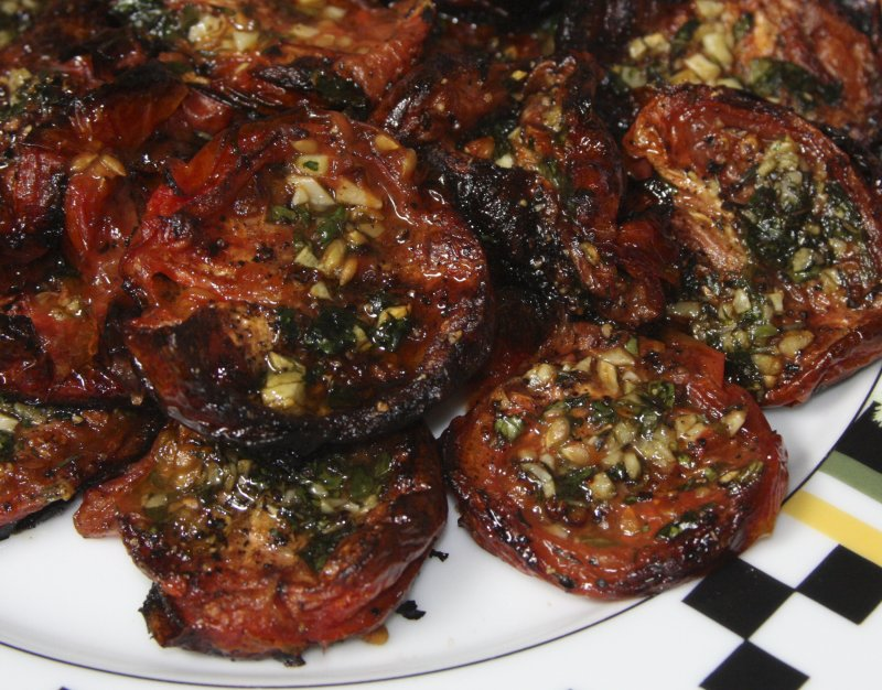 Roasted Plum Tomatoes with Fresh Herbs