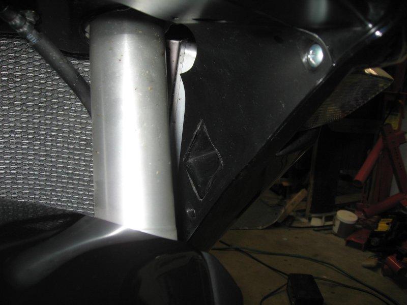 Gold Wing Horns installed in 2010 inner panels