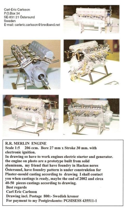 Finished Merlin models