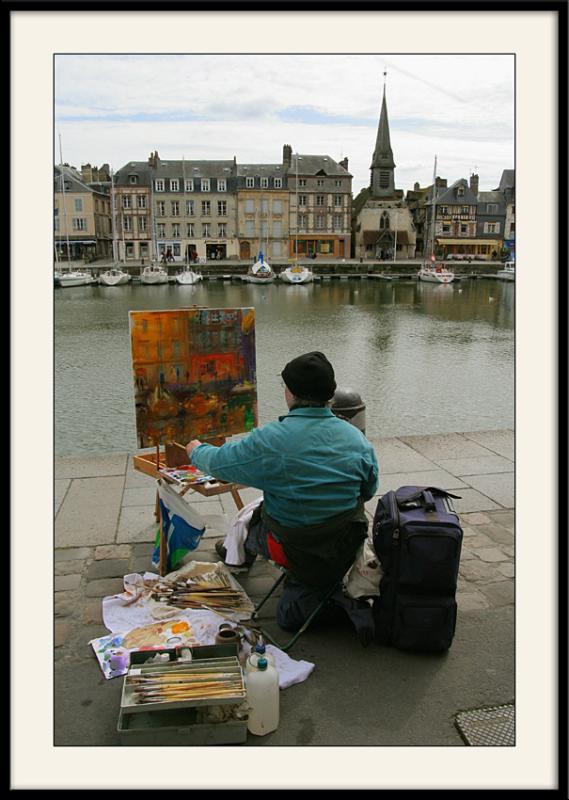 Honfleur </br>Peinture daprès</br>nature