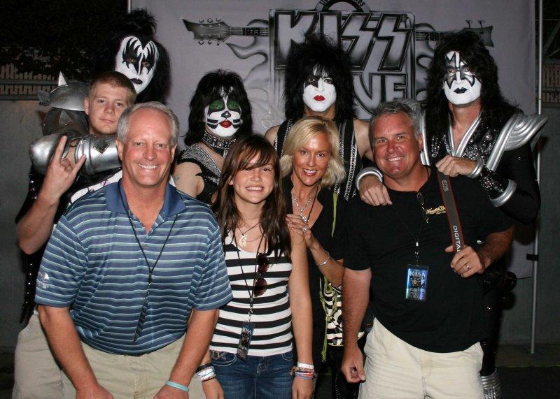 Backstage at KISS