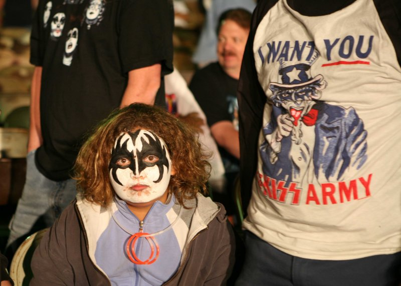 KISS Army soldier bummed at end of show