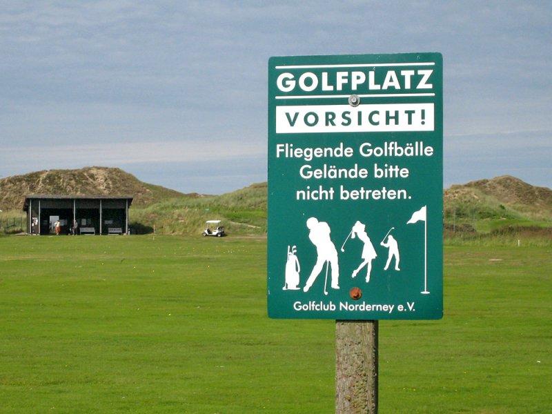 Flying golf balls