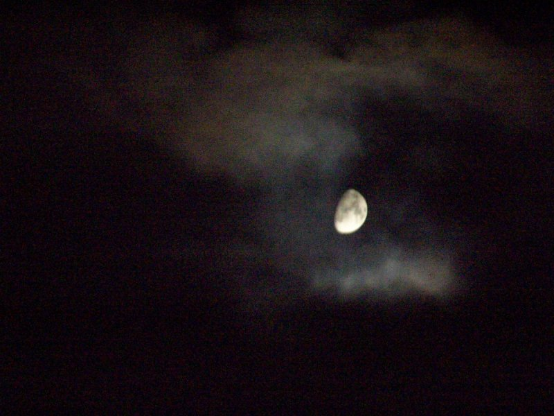 it was a cloudy, moonlit night...