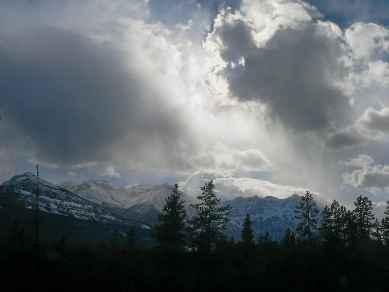 Snow squall approaching