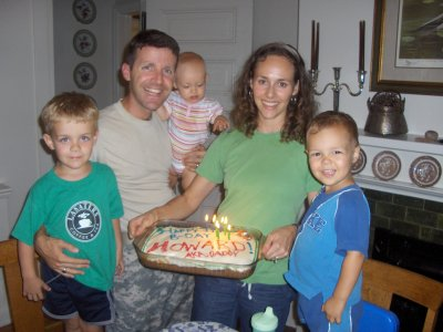 HOWARD CURLIN AND FAMILY. Howard is now deployed to Iraq.