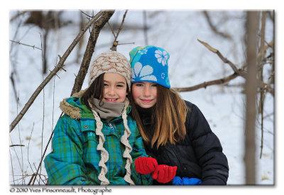 Coralie et Arianne ...