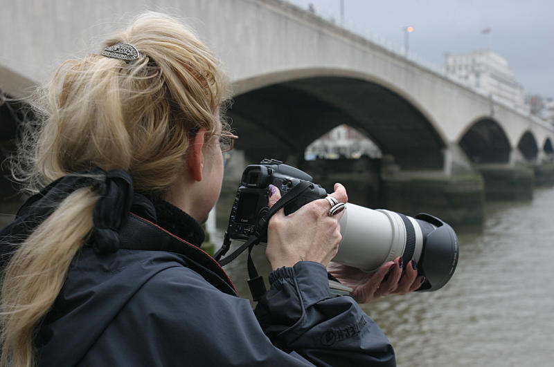 Carole searches for wildlife in the Thames