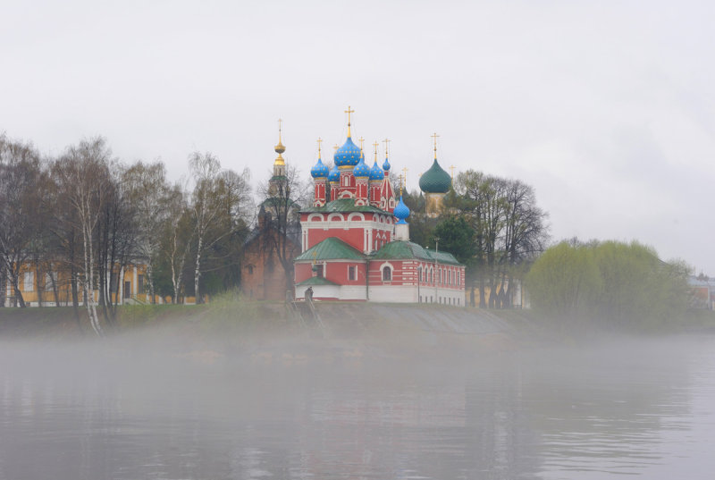 Town of Uglich. Architectural complex of Uglich Kremlin. The Church of Prince Dmitry on Blood ( 1692 )