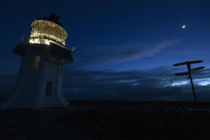 Cape Reinga at night