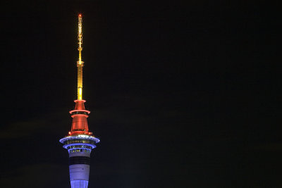 Sky Tower at night, Auckland