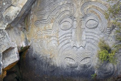 Ngatoroirangi Maori Rock carvings, Lake Taupo