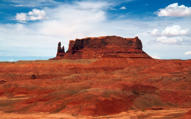 Butte and Badlands in Navajo Country
