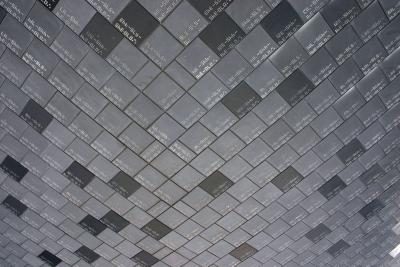 The tiles on the base of the Shuttle