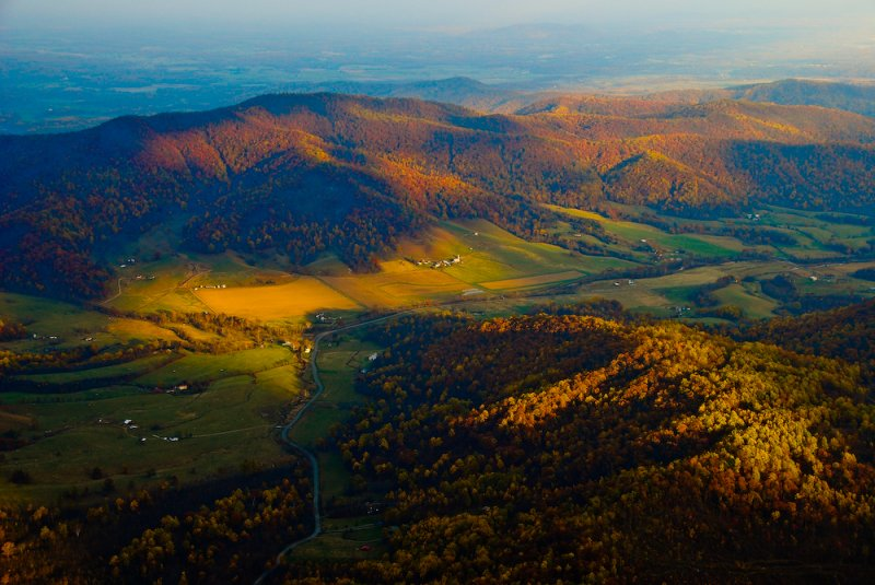 Over the Shenandoah Mountains