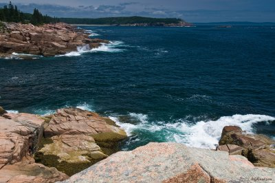 Acadia NP - Great Head in distance